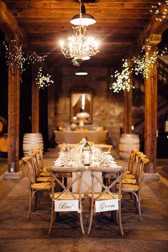 winery reception, photo by BrittRene Photography http://ruffledblog.com/california-country-chic-wedding #weddingreception #receptions #rusticwedding