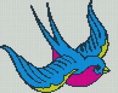 Bird perler bead pattern