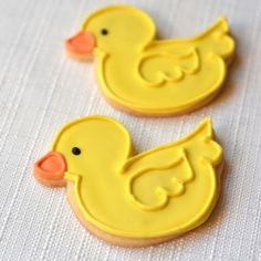 baby shower duckie and onesie sugar cookies with royal icing {no recipe}
