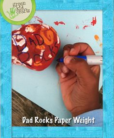 """Dad Rocks"" Paperweight gift"