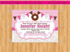 Doughnut Sprinkles - Girl  Baby Shower Invitation - Custom - Printable -
