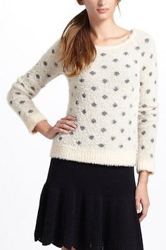 Dotted Woolly Sweater #anthropologie