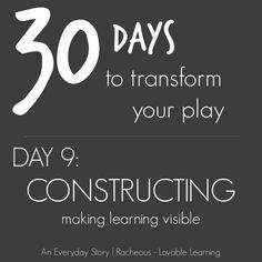 Constructing | Day 9 - 30DaysTYP - Racheous - Lovable Learning