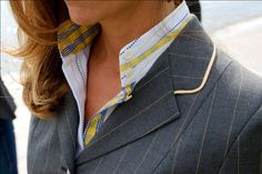 You can design your own shirts and jackets at Stable Cloth. Add silk accents and elegant piping details.