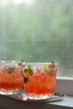 Strawberry Infused Mint Julep! YUM