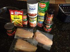 Easy Crockpot Chicken Taco Chili  Free Printable Recipe Card! #Recipe #crockpot #chili #taco #chicken
