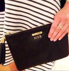 What's better than an initial clutch? A gold foiled initial clutch!