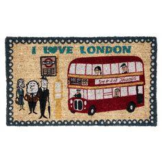 I Love London Doormat | DotComGiftShop