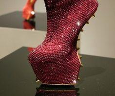 I love weird heels.