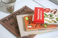 Thrift store finds---plant books by your idea, via Flickr.