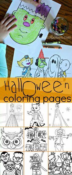 Halloween Coloring Pages including Charlie Brown, Frozen, Rocket Raccoon, Frankenstein and many more!