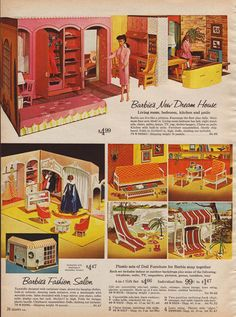 Barbie in Sears catalog, 1964