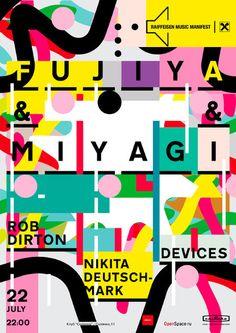 Unknown Designer - Poster for Fujiya & Miyagi