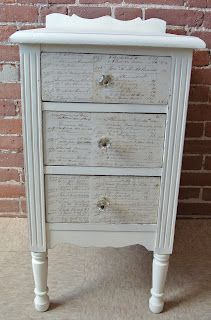 drawers de coupaged with book pages