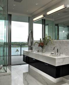 Love this modern bathroom...
