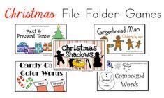 Free Christmas File Folder Games christma game, file folder games, free christma, christmas games, christma file
