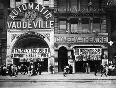 Vaudeville Theatre, C1905 Photograph  - Vaudeville Theatre, C1905 Fine Art Print