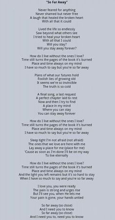 So Far Away-Avenged Sevenfold