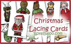 craft, christma lace, printabl christma, free christma, decemberchristma theme, lace card, cards, christma snack, christmas theme preschool