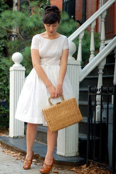 Sweetly gorgeous in summer white. #vintage #fashion #white #dress #bloggers