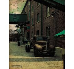 Photo Print  Retro Alley  car old vintage by GoldenSection on Etsy