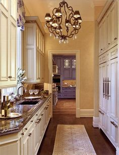 white cabinets with pale yellow walls closet designs, interior design, yellow wall, butler pantri, butler pantry, design kitchen, galley kitchens, white cabinets, kitchen designs