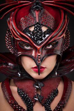 'Garnet Dancer', leather headpiece by New Zealand costume designer Nadine Jaggi