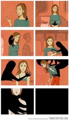 Don't let depression consume you…  I used to look put together like the lady in the first frame, I swear!