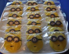 Despicable Me Movie Night: Minions Cookies minions, despicable me cookies, food, parties, minion cooki, minion parti, minion party, parti idea, bday parti