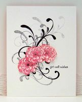 Sylvia's Stamping Corner: COLOURQ CHALLENGE #157....IT'S ALL ABOUT THE PINK!