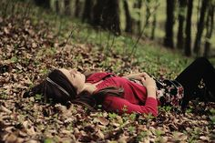 Taking a break in the leaves forests, fall pictures, nature, dress, blog, sleep, leaves, autumn photography, design