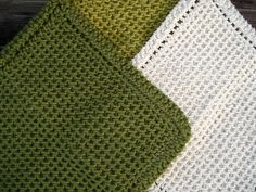Chinese wave dishcloths. Nice pattern via Ravelry