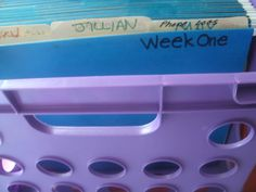 This is a huge plan on how to use a crate system to organize Homeschool stuff.