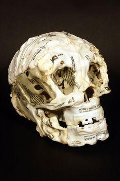 Brian Dettmer's Melted Casette Tape Skeletons and Skulls.