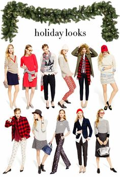 J.Crew holiday looks find more women fashion on www.misspool.com