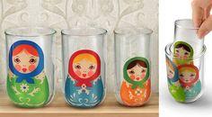 Babushka Nesting Glasses: So sweet!