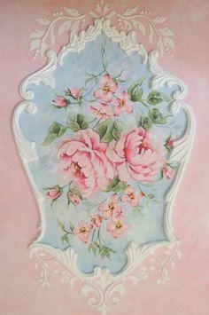 Shabby French Rococo Panel Painting. www.royalrococo.com ♥♥♥