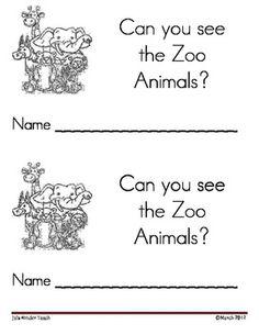 Zoo Animals Emergent Leveled Reader zoo animals, kindergarten readers, anim emerg, zoos, emerg reader