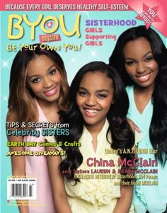 China Anne McClain and her sisters on the cover of BYOU magazine!