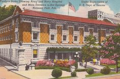 Fordyce Baths Hot Springs National Park Arkansas 1955 postmark