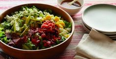 Grilled Avocado Cobb Salad with Apricot Dressing   KitchenDaily.com