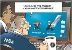 Is the Truth Catching Up With Brennan? | Capitol Quip by R.J. Matson #politicalcartoons #NSA