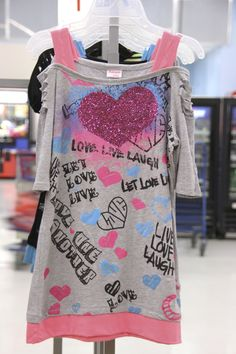 Girls Heart Graphic Shirt (available only in stores) Click image to see weekly ad  #MeijerKidsLooks #BacktoSchool