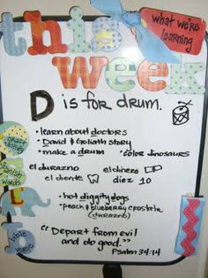 The Domestic Notebook: Preschool at Home: Letter D Week