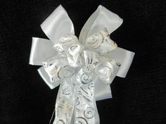 Wedding/ Pew Bows set of 12 White Satin and by creativelycarole, $120.00