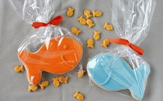 favor bags, sugar cooki, goody bags, goodie bags, goldfish favors, goldfish cookies, parti, goodi bag, gf cooki