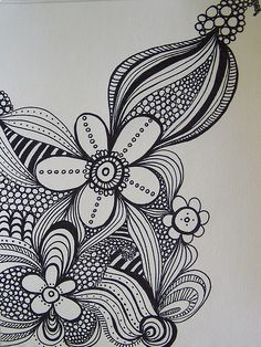 More flower doodles. So pretty. Want to try to draw something like this.