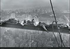 Empire State building construction.