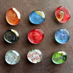 Tutorial for making glass magnets.  An easy teacher appreciation or Mother's Day gift idea. Such a cute idea, maybe I'll make magnets for myself or give to a friend with various other little trinkets. :)