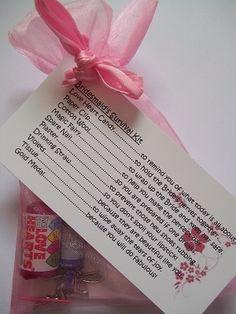 Bridesmaid Survival Kit Novelty Thank You Gift Card | eBay